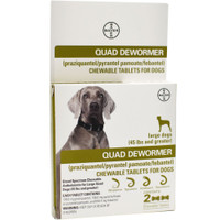 Bayer Quad Dewormer Dog 2-pack Large Dog