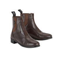 Saxon Kid's Syntovia Zip Paddock Boots - Brown