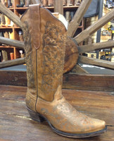 Corral Women's Honey Lazer etched Cowboy Boots - Brown