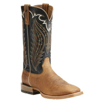 Ariat Men's Top Hand Cattlegrid Square Toe Cowboy Boots - Brown