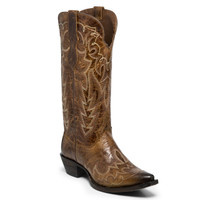 Justin Women's Elina Cowboy Boots - Chocolate