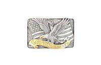Men's God Bless America Silver
