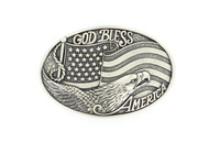 God Bless America Buckle