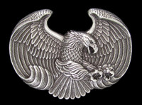Nocona Eagle Silver Belt Buckle