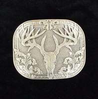 Nocona 8-Point Deer Skull Silver Plated