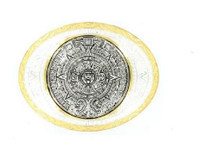 Aztec Calendar Silver/Gold Belt Buckle