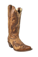Corral Women's Overlauy With Studs - Brown