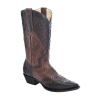 Corral Men's Cognac Cowboy Boots Tobacco Inlay
