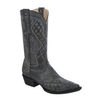 Corral Men's Embroidered Cognac Black Grey
