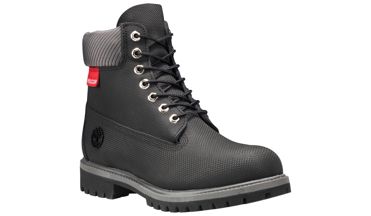 8d23566f8566b Home · Footwear · Mens; Timberland Men's Helcor Leather 6-Inch Premium  Waterproof Black. Image 1