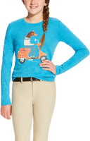 Ariat Graphic Tee With Blue