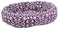 Donut Bed Purple Rain Microvelvet