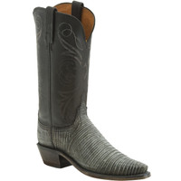 Lucchese Women's Lizard Madras Goat Cowboy Boots - Pearl Bone