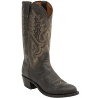 Lucchese Men's Lewis Anthracite Madras Goat in Grey