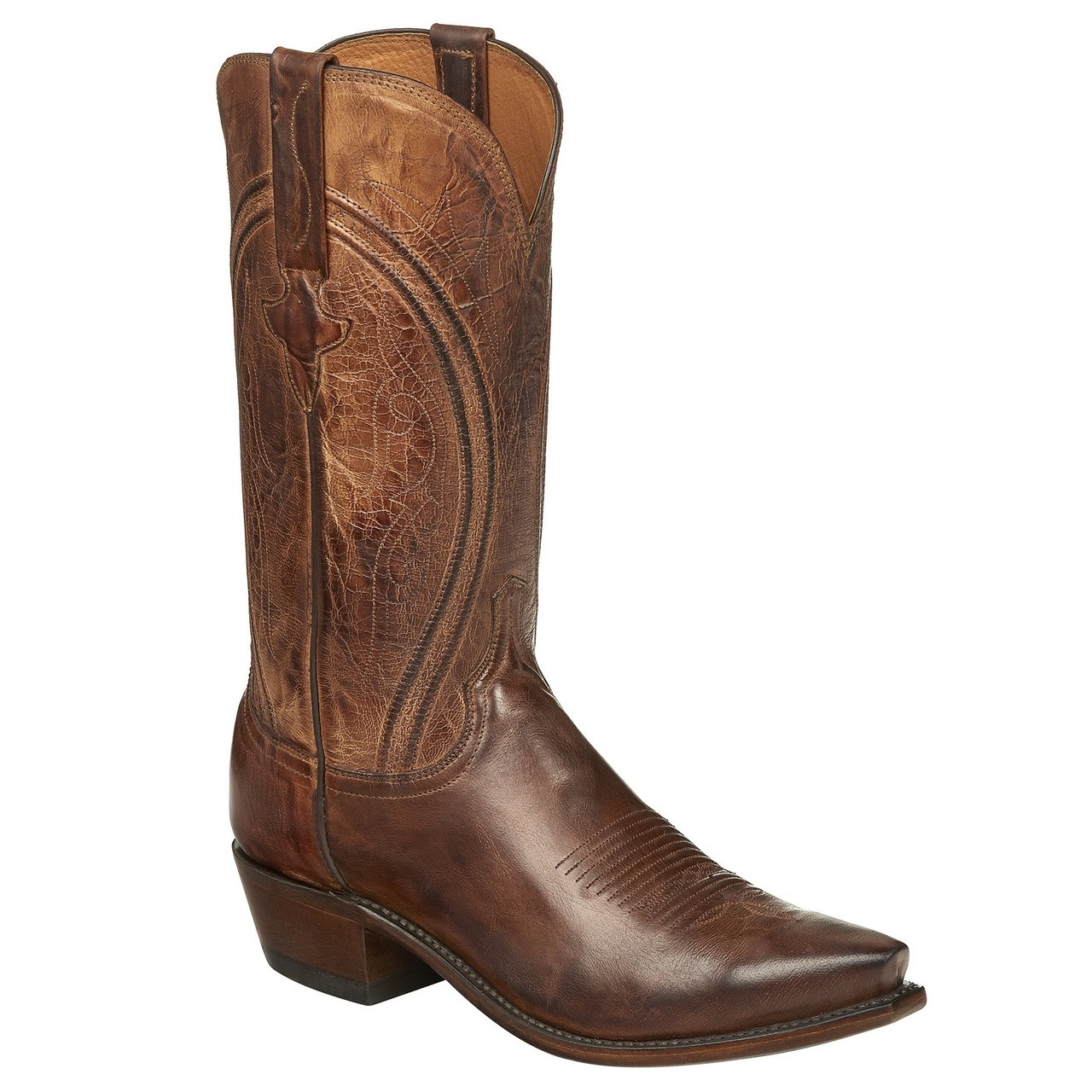 672e95f34fd Lucchese Men's Clint Antique Goat Cowboy Boots - Peanut Brittle