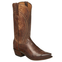 Lucchese Men's Clint Antique Goat Cowboy Boots - Peanut Brittle