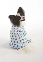 Ethical Owl Print Fleece Dog PJ'S - Blue