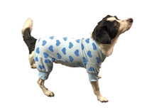 Ethical Heart Fleece Dog PJ'S - Blue