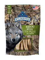 Blue Wilderness Bayou Stix with Alligator & Catfish dog Treat