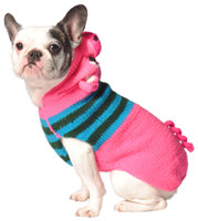 Pink Piggy Hoodie Dog Sweater