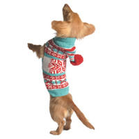 Peppermint Hoodie Holiday Dog Sweater