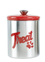 Buddy's Line Brushed Red Stainless Food Cannister
