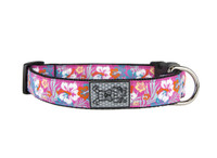 RC Dog Clip Collar Hibiscus Dog Collar