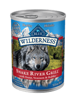 Blue Wilderness Snake River Grill with Trout, Venison & Rabbit  Canned Dog Food 12oz