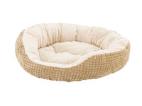 Sleep Zone Corngrain Step-In 22″  Pet Bed  - Tan