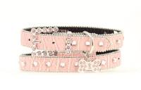 "Pink Croc Dog Collar 1"""