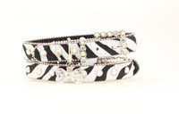 Zebra Hair Dog Collar