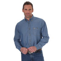 Wrangler Men's George Strait Long Sleeve Shirt - Denim
