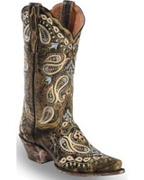Dan Post Women's Julissa Tan Embroidered Cowboy Boots