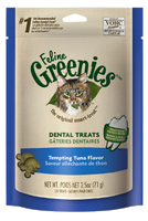 Feline Greenies Dental Treats Tempting Tuna Flavor