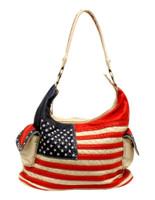 Blazin Roxx Women's Americana Bucket Flag  Western Handbag