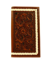 Ariat Men's Western Wallet Rodeo Floral - Tan