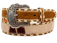 Nocona Women's Faux Cow Hide eather Western Belt