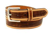 Ariat Western Belt Men's Croco Print - Brown