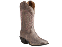 Ariat Women's  Round Up Outfitter Cowboy Boots - Chocoloate