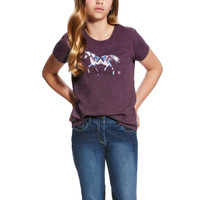 Ariat Kids Trot Tee Plum