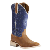 Ariat Women's Circuit Savanna Cowboy Boots - Tan/Blue