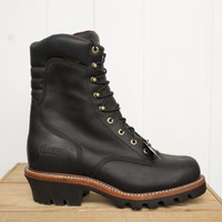 Chippewa Men's Arador Waterproof Logger - Made in USA - Black