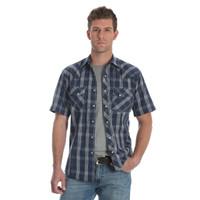 Wrangler Men's Fashion Snap Short Sleeve Shirt