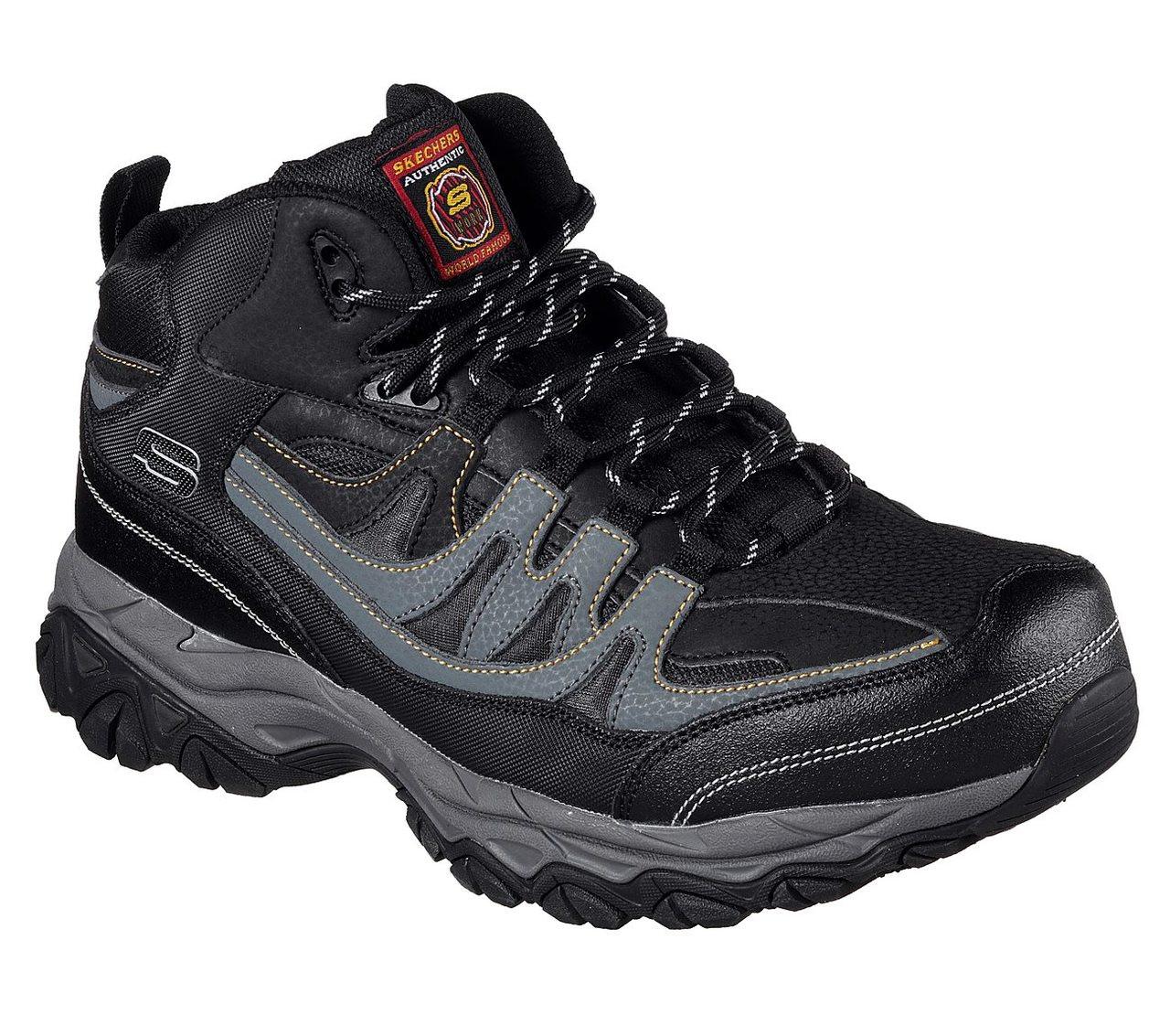 775f2dd40fdbf ... Boots; Skechers Men's Holdredge Mid Steel Toe - Black. Image 1