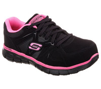 Skechers Women's Athletic Composite Toe Work Boots - Black/Pink