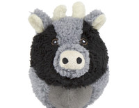Squooshie Balls Cow Dog Toy