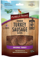 Purely Original Turkey Sausage Dog Treat 3oz