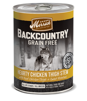 Merrick Backcountry Grain Free - Hearty Chicken Thigh Stew Canned Dog Food