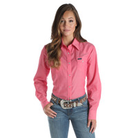 Wrangler Women's Western Long Sleeves Shirt - Pink