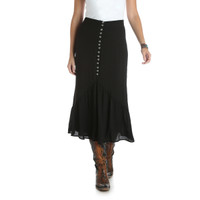 Wrangler Women's Skirt With Buttons- Black